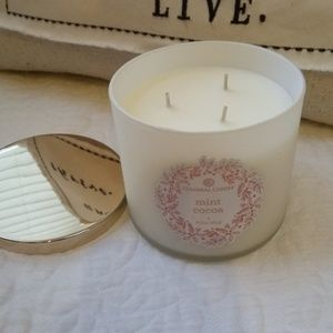 NEW! LARGE 3 wick MINT COCOA Colonial CANDLE